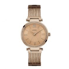 W0638L4 Γυναικείο ρολόι GUESS με μπρονζέ καντράν aedc1cefd24