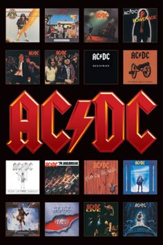 AC/DC ~ Album covers - best ever rock band!