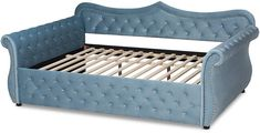 Baxton Studio Abbie Traditional & Transitional Upholstered & Crystal Tufted Queen Size Daybed #Sponsored , #Sponsored, #Traditional#Transitional#Abbie Decor, Storage Chest, Cheap Wall Decor, Bed, Baxton Studio, Home Decor, Toddler Bed, Storage, Furniture