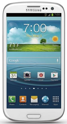 Samsung Galaxy S III (Boost Mobile)Display: 4.8-inches Camera: 8-MP Processor Speed: 1.5 GHz OS: Android 4.1 (Ice Cream Sandwich)