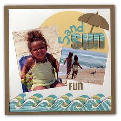 sand sun fun, love the letters