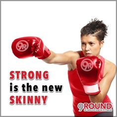 Stronger is the new Skinny! Working out never gets easier, you just get better-stronger! The more you challenge your body, the better it becomes. Workouts don't just get easier each day, instead you will gradually become stronger. The stronger you became, the harder you will find yourself working. #progress #stronger #9Round #StrongthenewSkinny #9RoundMorgansPt