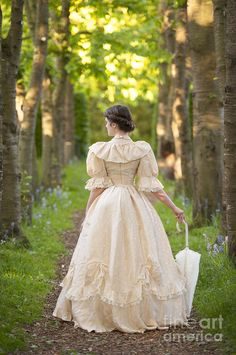 Victorian Woman In An Avenue Of Trees In Summer by Lee Avison ...