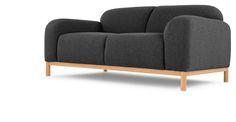 Brady, un canapé 2 places, gris crécerelle | made.com