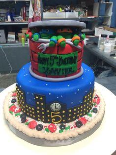 Ninja Turtles Birthday Cake - Adrienne & Co. Ninja Turtle Birthday Cake, Turtle Cakes, Ninja Turtles, Bakery, Desserts, Food, Tailgate Desserts, Deserts, Essen