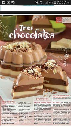 Mexican Jello Recipe, Mexican Dessert Recipes, Jello Recipes, Jelly Desserts, Sweet Desserts, Sweet Recipes, Delicious Desserts, Food Business Ideas, Chocolate Desserts