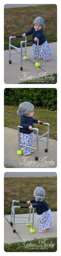 baby - Halloween - grandma - child - costumes - autumn - DIY - little - old - lady - fall