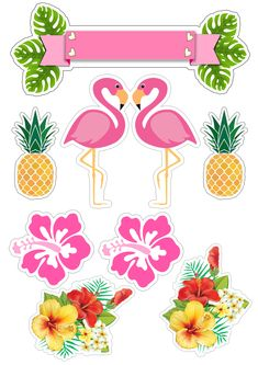 Best 12 – Page 826269862865110462 - Her Crochet Flamingo Party, Flamingo Birthday, Diy Birthday, Birthday Parties, Watercolor Stickers, Tropical Party, Luau Party, Cute Stickers, Party Printables