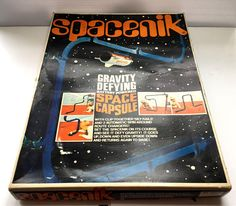 Highly Collectible 1968 SPACENIK Rocket Game TOMY Vintage Rockets Game, Defying Gravity, Space Age, Toy Boxes, Vintage Toys, Brand Names, Messages, Display, This Or That Questions