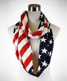 Look at this TROO Red & Blue Patriotic Infinity Scarf on #zulily today!