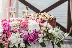 оформление свадьбы пионами