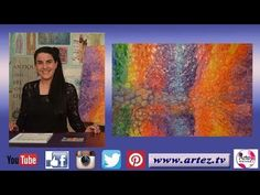 Como realizar una textura imitando el agua- Any Alva Selling Art, Glass Vase, Fantasy, Youtube, Painting, Decoupage, Tips, Beauty, How To Paint