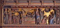 Clôture du Chœur de la cathédrale Notre-Dame (Paris). (XIVe siècle). La Visitation - L'Annonce aux Bergers - La Nativité - L'Adoration des Mages