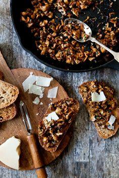 Mushroom season is here - Chanterelles and cheese on toast.