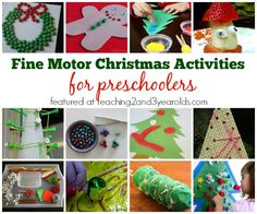 christmas fine motor activities for kids via teaching 2 and 3 year olds christmas crafts for - Christmas Activities For Kids