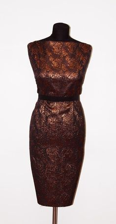 Copper Rose Lurex Jacquard