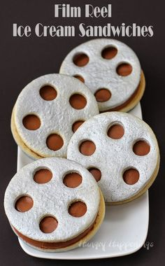 Hungry Happenings: Film Reel Ice Cream Sandwiches