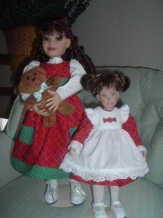 Christmas dresses for Kathryn and Leeann