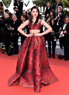 "Kristina Bazan attends the ""Slack Bay (Ma Loute)"" premiere during the 69th annual Cannes Film Festival at the Palais des Festivals on May 13, 2016 in Cannes, France."
