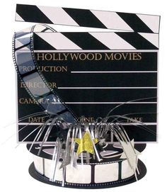 """Hollywood Movie Set Centerpiece 