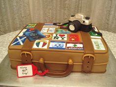 Suitcase For World Traveler on Cake Central