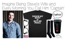 """Imagine Being Steve's Wife and Every Morning You Call Him 'Captain!'"" by fandomimagineshere ❤ liked on Polyvore"