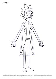 Learn How to Draw Rick from Rick and Morty (Rick and Morty) Step by Step : Drawing Tutorials
