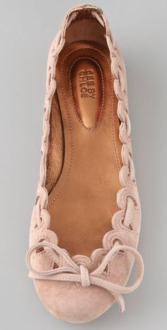 Pink Flats by Chloe