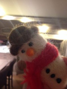 Needlefelted snowman
