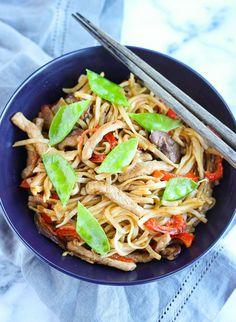 Lisa's Dinnertime Dish: Pork Udon Noodle Stir Fry