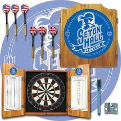 Trademark Commerce LRG7000-SHU Seton Hall University Dart Cabinet w/ Darts and Board