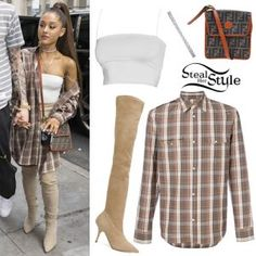 Celebs with best street style and how to get their look Look Fashion, Fashion Outfits, Fashion Tips, Pyjamas, Ariana Grande Outfits, Ariana Grande Wallpaper, Vetement Fashion, Her Style, Style Blog