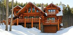 Learn more about the Copper Mountain floor plan from Pioneer Log Homes of BC #LogHomePlans