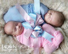 Newborn boy / girl twins photos