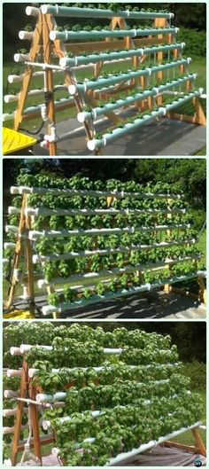PVC A-Frame Hydroponic System DIY Instructions - Low Budget DIY PVC Garden Projects
