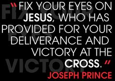 Fix your Eyes on Jesus......