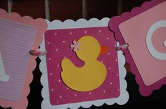 It's a Girl Banner, Rubber Duck Banner, Rubber Duck Baby Shower, Rubber Duck Shower, Rubber Duck Theme. $14.00, via Etsy.