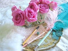 Though l love to share a bit of pretty around. l hope too that you can sometimes find inspiration in a few of my creations as well. Fancy Pens, From Here To Eternity, Love Rose, Marie Antoinette, Let Them Eat Cake, Beautiful Roses, Fresh Flowers, Holiday Crafts, Icing