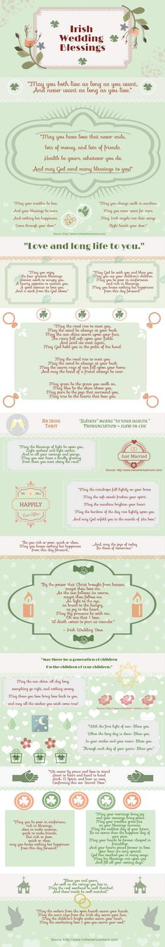 Irish Wedding Blessing Infographic By American Mom