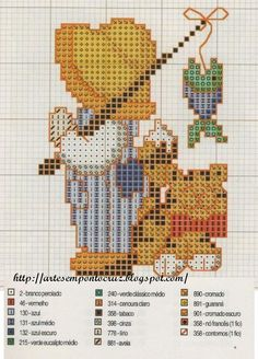 sunbonnet pescador... oh I wish I could cross stich decently!