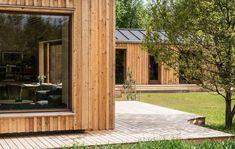 Sommerhus i Hulsig, Facade Facade Design, House Plans, Farmhouse, Cottage, Exterior, Outdoor Structures, Building, Outdoor Decor, Modern