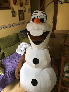 READY TO SHIP HOT SALE SMILING OLAF MASCOT COSTUME CARTOON CHARACTER COSTUME SNOWMAN OLAF MASCOT COSTUME