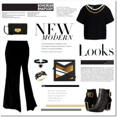 BOURGEOIS by ironono on Polyvore featuring polyvore, fashion, style, Boutique Moschino, Kat Maconie, Vionnet, Thalia Sodi, Rock 'N Rose, CHARLES & KEITH and H&M