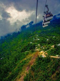 A view from Patriata, New Murree chair lifts Pakistan