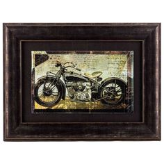 Vintage Motorcycle Framed Wall Art