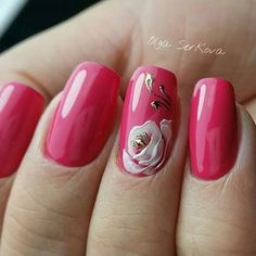 Nail art Christmas - the festive spirit on the nails. Over 70 creative ideas and tutorials - My Nails Pink Nail Art, Gel Nail Art, Pink Nails, My Nails, Rose Nails, Trendy Nail Art, Stylish Nails, Manicure E Pedicure, Luxury Nails