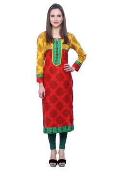 3/4 Sleeve Cotton Kurtas - Reliance Fashion Kurtas & kurtis for women | buy women kurtas and kurtis online in indium