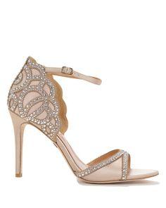 Ivory Roxy Ankle Strap Evening Shoe