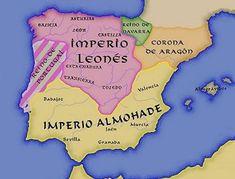 Imperator Totius Hispaniae: el título más deseado El título imperial de los reyes de León Aragon, Middle Ages History, Map Of Spain, Places In Spain, Iberian Peninsula, Islamic World, My Heritage, Historical Maps, Granada