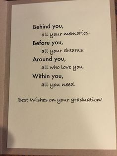 Graduation is a big step in anyone's life. After graduation you practically fall in your next phase of life which is a big thing. These qoutes will take you back to your graduation day. Here are 23 graduation quotes for girls The Words, Graduation Card Sayings, Graduation Message, Congratulations Card Graduation, Graduation Ideas, Vintage Graduation Party Ideas, Graduation Quotes For Daughter, Graduation Prayers, Senior Graduation Quotes